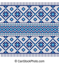 Ethnic ornament, seamless pattern - Vector illustration of...