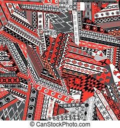 Ethnic patchwork background
