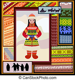 ethnic pattern of the northern woman