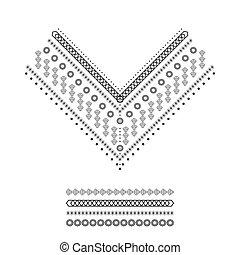 Ethnic pattern set