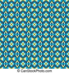 Ethnic pattern with geometric motifs