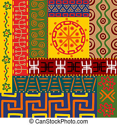 Abstract ethnic patterns and ornaments for design
