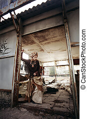 Ethnic Post Apocalypse - Ethnic Post-Apocalypse. Girl in the...