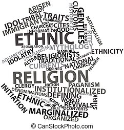 Ethnic religion - Abstract word cloud for Ethnic religion...
