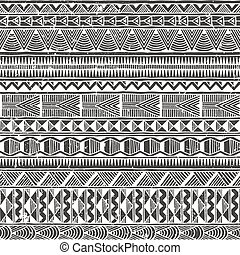 Ethnic seamless pattern. Abstract vector background.