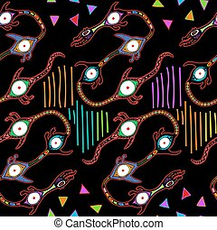 Ethnic seamless pattern. Hand drawn navajo fabric
