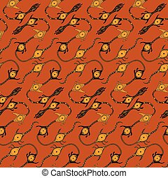 Ethnic seamless pattern. Hand drawn navajo fabric