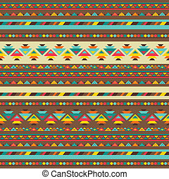 Ethnic seamless pattern in native style.