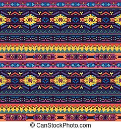 Ethnic seamless pattern in native style