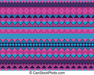 Ethnic seamless pattern, violet and blue color. Tribal...