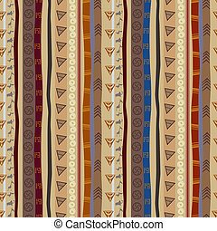 Ethnic seamless pattern with animal