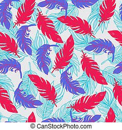 Ethnic seamless pattern with Feathers Boho style Print