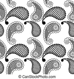 Ethnic seamless pattern with geometric elements