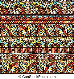 Ethnic seamless pattern with hand drawn ornament