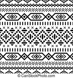 Ethnic striped seamless pattern.