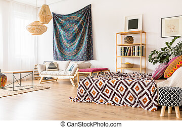 Ethnic studio interior