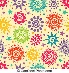 Ethnic Retro sun pattern for your business