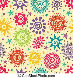 Ethnic sun pattern - Ethnic Retro sun pattern for your...