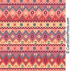 Ethnic textile bright decorative native ornamental striped seamless pattern.