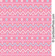 Ethnic textile decorative native ornamental striped seamless pattern.