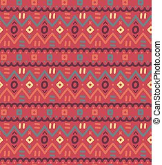 Ethnic textile decorative ornamental striped seamless pattern in vector.