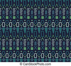 Ethnic textile decorative ornamental tribal seamless pattern in vector.