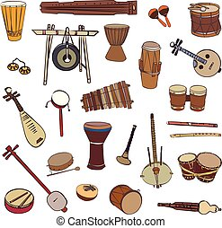 Ethnic traditional musical instruments
