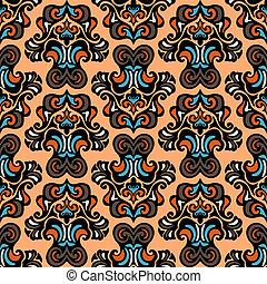 Ethnic tribal vector seamless pattern