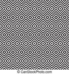 Ethnic tribal zig zag and rhombus seamless pattern. Vector...