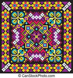 Ethnic ukrainian mosaic pattern. Vector editable...