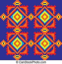 Ethnic Ukrainian pattern.