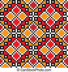 Ethnic Ukrainian pattern.