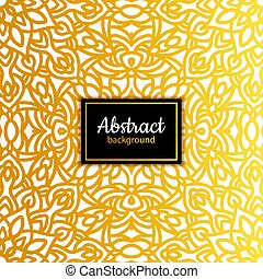 Ethnic vector floral seamless pattern with mandala
