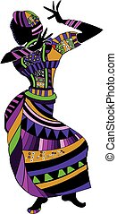 folk dance - ethnic woman dance for you folk dance on a...