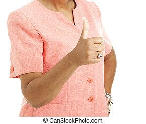 Ethnic Woman - Thumbs Up
