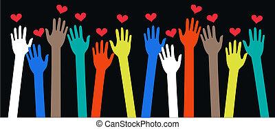 ethnicité, paix, liberté, amour