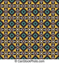 Ethnicity background. Pseudo african craft ethnic pattern, vector illustration
