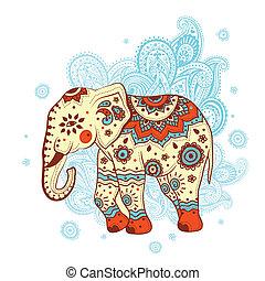 ethnique, éléphant