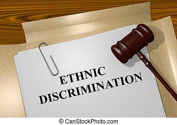 ethnique, discrimination, concept