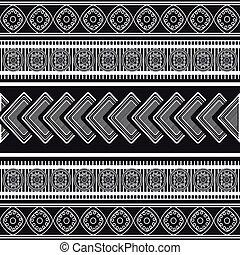 ethnique, texture, fond, icône
