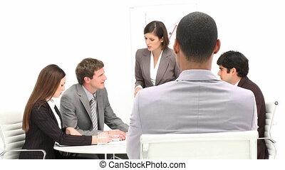 ethnique, wi, bureau, homme affaires