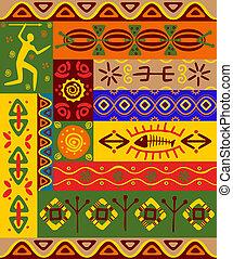 ethnische , motieven, en, versieringen