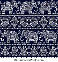 ethnische , seamless, elefant