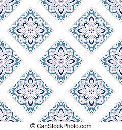 Ethno indian seamless pattern