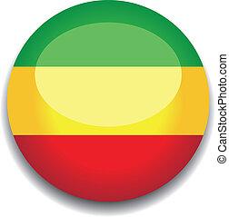 ethopia, bandeira, botão