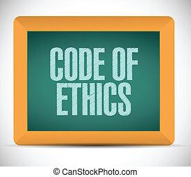 etica, codice, messaggio, illustrazione