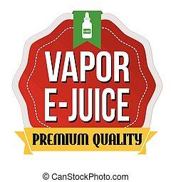 etichetta, adesivo, vapore, o, e-juice