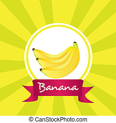 etichetta, banane, mazzo