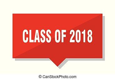 etichetta, classe, rosso, 2018