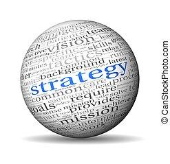 etichetta, concetto, parola, nuvola, strategia